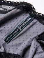 STRADIVARIUS Szara sukienka bieliźniana w groszki z koronkowym wykończeniem                                  zdj.                                  3
