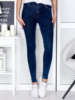 Spodnie ciemnoniebieskie slim fit                                  zdj.                                  1
