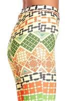 Spodnie dzwony we wzór geometryczny                                  zdj.                                  6