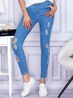 Spodnie jeansowe ripped niebieskie                                  zdj.                                  1