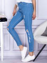 Spodnie jeansowe ripped niebieskie                                  zdj.                                  3