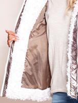 Srebrna metaliczna pikowana kurtka                                  zdj.                                  7
