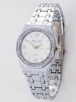 Srebrny zegarek damski na bransolecie                                   zdj.                                  1