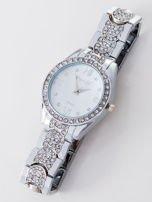 Srebrny zegarek damski na bransolecie                                   zdj.                                  3