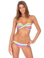 Strój kąpielowy bikini z motywem tęczowych pasków                                  zdj.                                  1