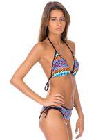 Strój kąpielowy wiązane bikini w kolorowe geometryczne wzory                                  zdj.                                  4