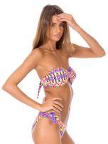 Strój kąpielowy wiązane bikini w kolorowe motywy geometryczne                                  zdj.                                  4