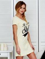 Sukienka bawełniana IT'S ABOUT STYLE jasnożółta                                  zdj.                                  3