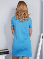 Sukienka bawełniana IT'S ABOUT STYLE niebieski                                  zdj.                                  2