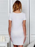 Sukienka biała bawełniana I LOVE ROCK N ROLL                                  zdj.                                  2