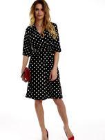 Sukienka czarna w grochy                                  zdj.                                  9