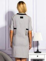 Sukienka damska z kieszeniami jasnoszara                                  zdj.                                  2