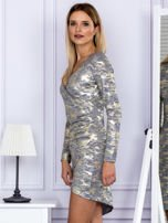 Sukienka damska z motywem moro ciemnoszara                                  zdj.                                  5