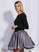 Sukienka damska z rozkloszowaną spódnicą szara                                  zdj.                                  3