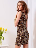 Sukienka granatowa w kolorowe wzory                                  zdj.                                  2