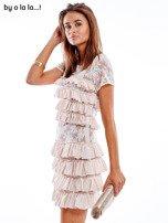 Sukienka jasnoróżowa z falbanami BY O LA LA                                   zdj.                                  7
