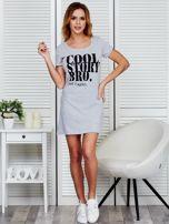 Sukienka jasnoszara bawełniana COOL STORY BRO                                  zdj.                                  2