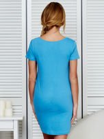 Sukienka niebieska bawełniana COOL STORY BRO                                  zdj.                                  2