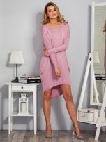 Sukienka oversize z dłuższym tyłem liliowa                                  zdj.                                  4