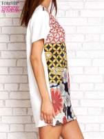 Sukienka w kwiatowe i geometryczne wzory                                  zdj.                                  3