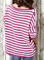 Sweter z dłuższym tyłem w biało-różowe paski Funk n Soul                                  zdj.                                  6