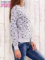 Szara bluza motyw buldożków