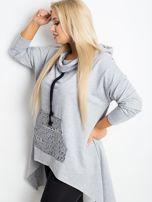 Szara bluza plus size Without                                  zdj.                                  5