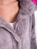 Szara bluza pluszowa z wysokim kołnierzem                                                                          zdj.                                                                         6
