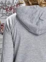 Szara bluza z kapturem i napisem HONOUR                                  zdj.                                  7