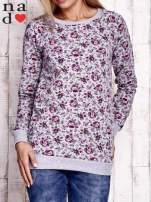 Szara bluza z kwiatowymi motywami                                  zdj.                                  1