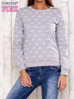 Szara bluza z motywem kokardek                                  zdj.                                  1