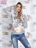 Szara bluza z nadrukiem liści i napisem AUTUMN LEAFS                                  zdj.                                  5