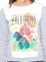 Szara dresowa bluza z nadrukiem CALIFORNIA LA                                  zdj.                                  6