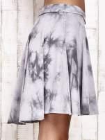 Szara dresowa spódnica szyta z koła z efektem  tie-dye                                  zdj.                                  5