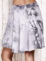 Szara dresowa spódnica szyta z koła z efektem  tie-dye                                  zdj.                                  6