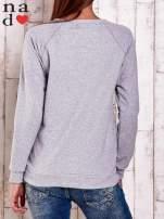 Szara gładka bluza