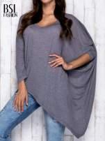Szara melanżowa bluzka oversize