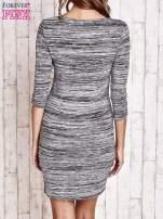 Szara prosta melanżowa sukienka