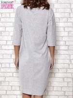 Szara prosta sukienka dresowa                                  zdj.                                  4