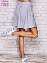 Szara spódnica dresowa skater                                  zdj.                                  5