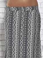 Szara spódnica maxi w azteckie wzory                                  zdj.                                  6