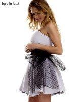 Szara sukienka z tiulowym wiązaniem BY O LA LA                                  zdj.                                  4