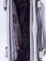 Szara torba shopper bag z suwakiem                                  zdj.                                  4