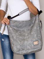 Szara torba z bocznymi suwakami                                  zdj.                                  1