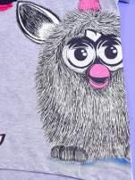 Szara tunika dla dziewczynki z nadrukiem FURBY                                                                          zdj.                                                                         4