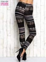 Szare legginsy w zimowy motyw                                                                          zdj.                                                                         3