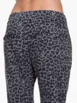 Szare panterkowe spodnie dresowe                                  zdj.                                  5