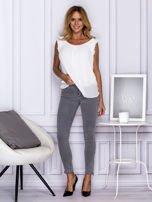 Szare spodnie z suwakami na nogawkach                                  zdj.                                  4
