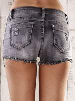 Szare szorty jeansowe z przetarciami                                  zdj.                                  2