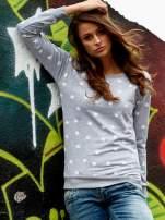 Szaro-biała bluza z nadrukiem jabłuszka                                                                          zdj.                                                                         1